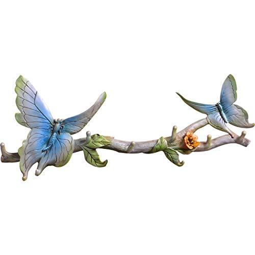 Wandhalterung Tier Schmetterling Haken Chinesischen Stil Kleiderständer Reihe Haken Schlafzimmer Skulptur 3D Dreidimensionale Große Harz 55,5 * 23 * 4,5 cm Tierkopf -