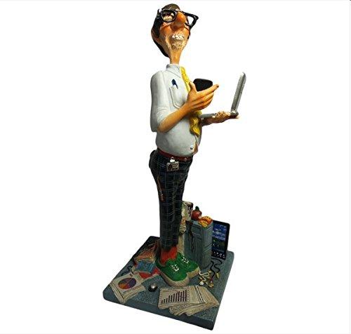 Guillermo Forchino fo85530 Vignette l'expert d'ordinateur, Résine, Multicolore, 38 x 18 x 42,5 cm