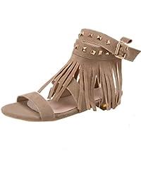 damen sandaletten mit fransen