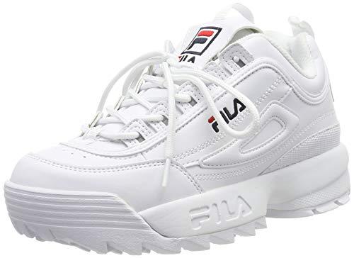 Fila Disruptor Low Wmn, Zapatillas para Mujer, Blanco White 1fg, 36 EU