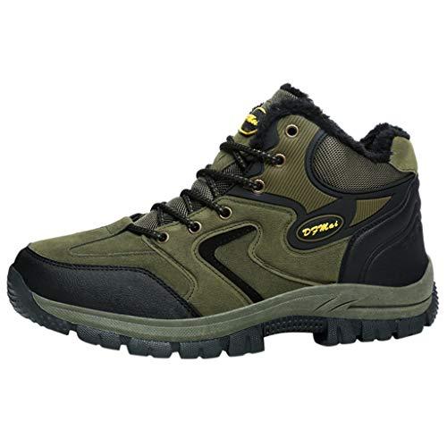 BoyYang Herren Wanderschuhe Outdoor Leichtes Slip On Sneaker Sportschuhe Trekking Wanderhalbschuhe Dämpfung Wanderstiefel Laufschuhe, Warm halten Verwenden Sie Samtiger Baumwolle Herstellung
