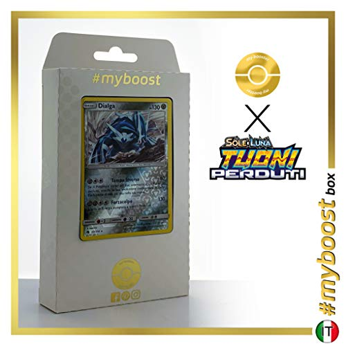 Dialga 127/214 Holo Reverse - #myboost X Sole E Luna 8 Tuoni Perduti Box de 10 Cartas Pokémon Italiano