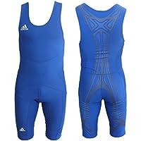 Adidas PowerWeb Wrestling Suit Mono Lucha Maillot Traje Hombres - Azul, XL | D10
