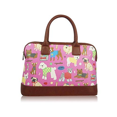 Cani borsone weekend viaggi borsa a tracolla in tela cerata da donna borsetta da donna Purple