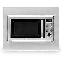 Klarstein 10028202 Intégré - Micro-ondes (Intégré, Micro-ondes grill, 23 L, 800 W, boutons, Rotatif, Acier inoxydable)