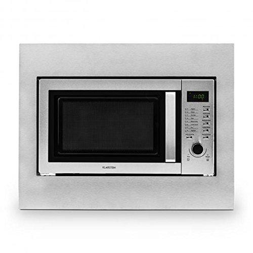 Klarstein Steelwave microondas (800 W, grill de 1.000 W, 23 l de...