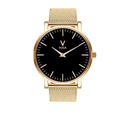 Tempus 40mm Black and Gold with Gold mesh strap