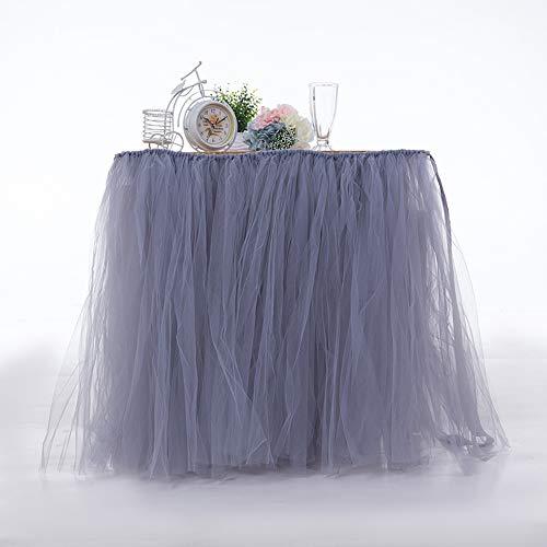 AYUE® Romantische flauschige Tisch Rock Tüll Geschirr Tischdecke Sockelleiste für Babyparty Weihnachtsfeier Hochzeitstorte Tisch Mädchen Prinzessin Dekoration