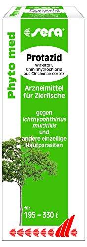 Sera 32297 Phyto med Protazid Arzneimittel für Zierfische gegen Ichthyophthirius multifiliis und andere einzellige Hautparasiten, 30 ml