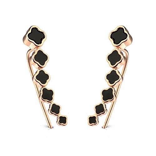 la moda di personalitš€ nera selvatici orecchini trifoglio orecchini gioielli