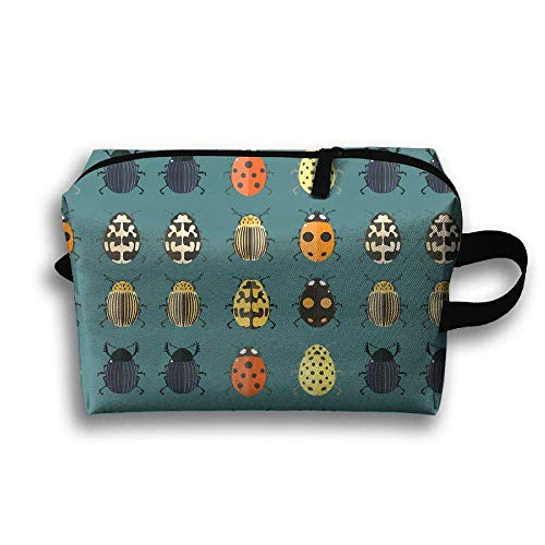 Cute Bugs Travel Large Makeup Bag Train Case Toiletry Bag Handy Toiletry Organizer Tool Storage Bag