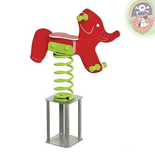 Federwippe Wipptier Elefant Gartenwippe für Kinder von Gartenpirat®