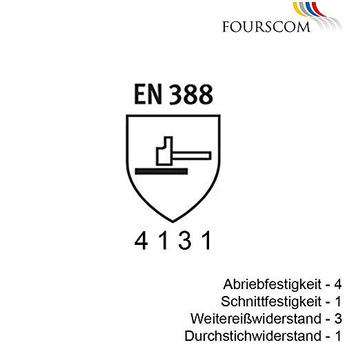 12 Paar FOURSCOM Arbeitshandschuhe PU-beschichtet Gr.7-12 EN388/4131 Größe 8 - 2