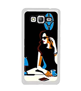 Fuson Focus Girl with Cup Of Coffee Designer Back Case Cover for Samsung Galaxy Grand Prime :: Samsung Galaxy Grand Prime Duos :: Samsung Galaxy Grand Prime G530F G530Fz G530Y G530H G530Fz/Ds (Abstact Art Paint Painting Illustrations)