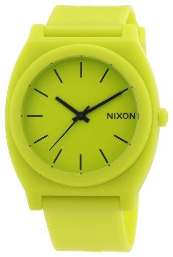 nixon-reloj-analogico-unisex-de-caucho-resistente-al-agua-amarillo