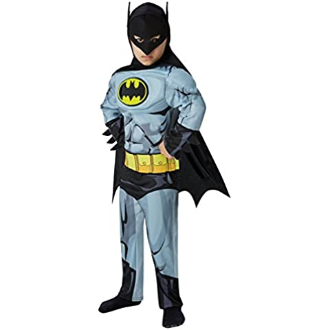 Batman - cómic Deluxe - Disfraz Infantil - Grande - 128cm - Edad 7-8