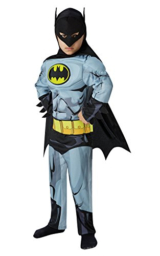 Batman - Comic Deluxe - Kinder Kostüm - Medium - 116cm - Alter (Batman Kostüm Medium)