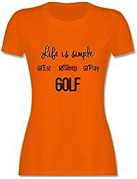 Golf   Life Ist Simple Golf   Damen T Shirt Rundhals