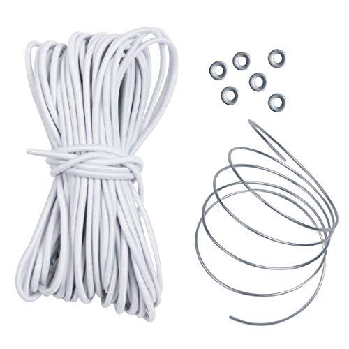 10T Outdoor Equipment Shock Cord Plus Hareng Blanc, 1350 x 0,4 x 0,4 cm