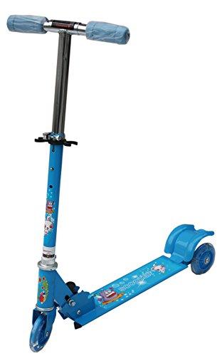 Amardeep Baby Three Wheeled Height Adjustable Scooter With Wheel Lights Anti Slip Foot Grip,Blue