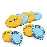 FRETOD Silikon Deckel für Haustier Lebensmittel Dose - 4er Pack - 3 in1 Größe - Flexibler Deckel Passt Alle Standard-Dose für Hund und Katze