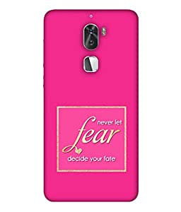 PrintVisa Designer Back Case Cover for Letv Cool 1 Dual (Fear Fate Wordings Sayings Box Windows)