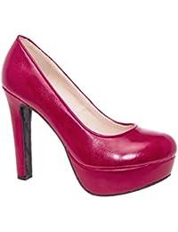 Andres Machado.AM5051.Salones en Soft con plataforma.Para Mujer.Tallas Pequeñas/Grandes 32/35; 42/45