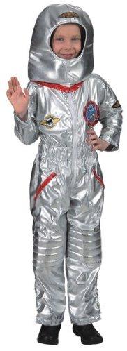 Astronautenanzug : Overall und Haube, Kinder-Größe:128