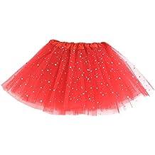 MIOIM-Vestido de Fiesta de la Princesa TuTu Falda Lentejuela Estrella Gasa con Brillos de Ballet para Niñas-Talla única