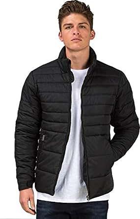 Ben Martin Men's Nylon Quilted Jacket (Black, Medium)