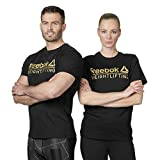 Reebok Qqr-Weightlifting Mens, Maglietta Uomo, Nero, S