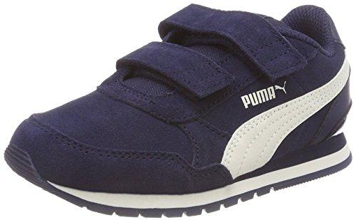 Puma St Runner V2 SD V PS, Scarpe da Ginnastica Basse Unisex – Bambini, Blu (Peacoat-Whisper White 01), 32 EU