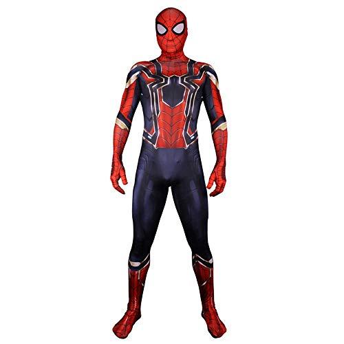 RNGNBKLS Neue Erwachsene Kinder Eisen Spiderman Kostüm Halloween Karneval Cosplay Verkleidung 3D Druck Spandex Anzug,Men-XXL (Kostüm Neue Man Spider)