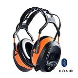 Gardtech Bluetooth FM-Stereo-Gehörschutz, Ohrenschutz, Schalldämmungsrate 29dB mit LCD-Display und 4G SD-Karte