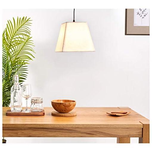 Umi. by Amazon, lampadario da soffitto, in tessuto, forma trapezoidale, 29,7 cm