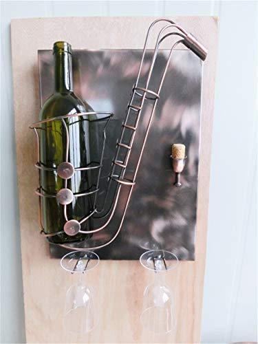 BRUBAKER Soporte botella vino saxofón - Wall Art