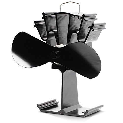 Kenley Stromloser Ventilator für Holzöfen Kamin Öfen 2 Flügel