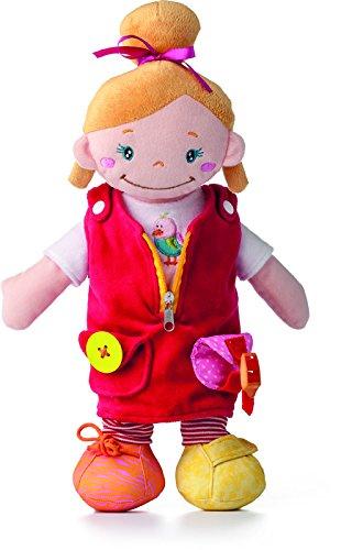 """Preisvergleich Produktbild Große Niny Lernpuppe Mädchen """"ALANI"""". Spielerisch lernen. Mit Knopf, Bindeschnur, Reißverschluss, Klettverschluss, An- und Ausziehen etc. 41 cm groß!"""