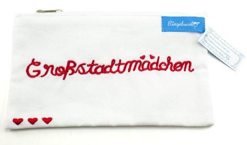 Sac pour cosmétiques trousse de maquillage Großstadtmädchen (fille des grandes villes) blanc femme 12 x 20 cm Ringelsuse