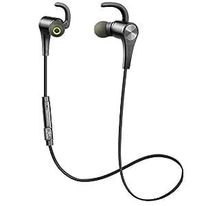 Cuffie Bluetooth Sportive Magnetiche SoundPEATS Auricolari Wireless ( Bluetooth 4.1, aptX, A2DP, 6 ore di Riproduzione, Microfono Incorporato, CVC 6.0 ) per iPhone, Galaxy, Tablet, MP3, ecc. - Nero