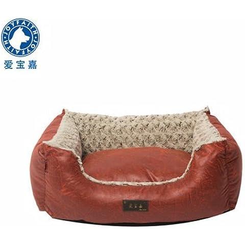 ZPP-Grande cane di razza pastiglie pet lavabile letto piccolo canile,rosso,M