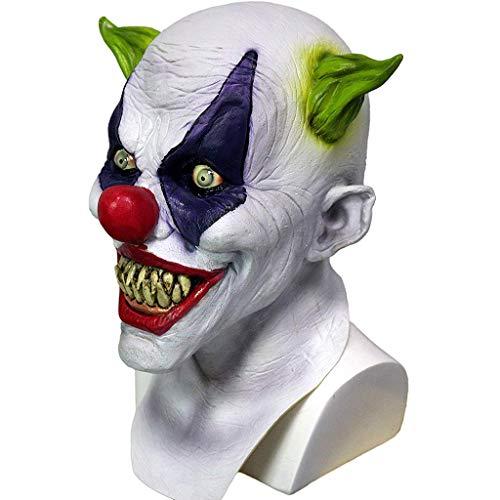 n Maske Room Escape Requisiten Horror Latex Kopfbedeckung Haunted House Zombie Maske Halloween Kostümpartys Maskeraden Terror Theme Party,White-OneSize ()