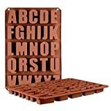 Igemy 26 Buchstaben Silikon Schokolade Backform Handwerk Süßigkeiten Cookie Eiswürfel Form (Coffee)