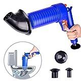 LLFS Tapón de inodoro, filtro de drenaje de aire, limpiador de bomba de presión, potente desatascador manual de alta presión, bomba limpiadora para baño, baño, ducha, cocina, bañera con tubería