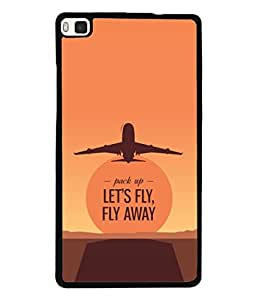Huawei P8 Back Cover Let'S Fly Fly Away Brown Red Sky Color Design From FUSON
