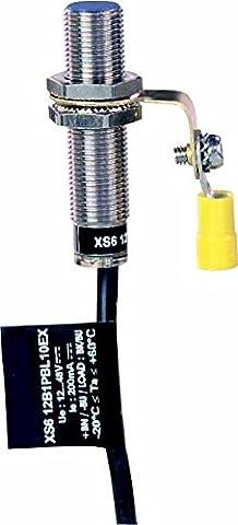 Schneider Electric Xs612b1pbl10ex Capteur de proximité Nc4mm, Inductive Sensor Xs6M12–L53mm–Laiton–Sn4mm–12.. 48VDC–câble 10m