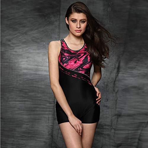 MICOKY Badeanzüge für Damen Einteilige Badeanzüge Racing Bedeckt Bauch Abnehmen Body Professionelle Weibliche Badebekleidung L
