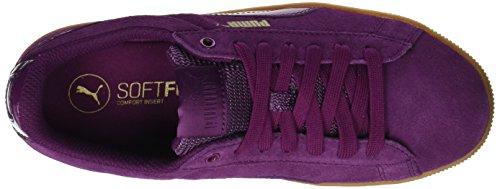 Puma Women Vikky Platform Low-Top Sneakers  Purple  Dark Purple-dark Purple   7 UK  40 5 EU