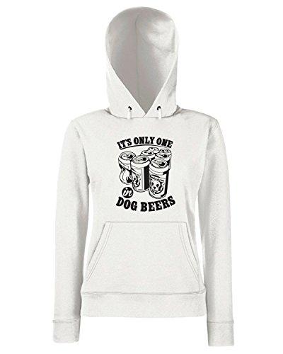 T-Shirtshock - Sweats a capuche Femme FUN0229 09 17 2013 Dog Beers T SHIRT det Blanc