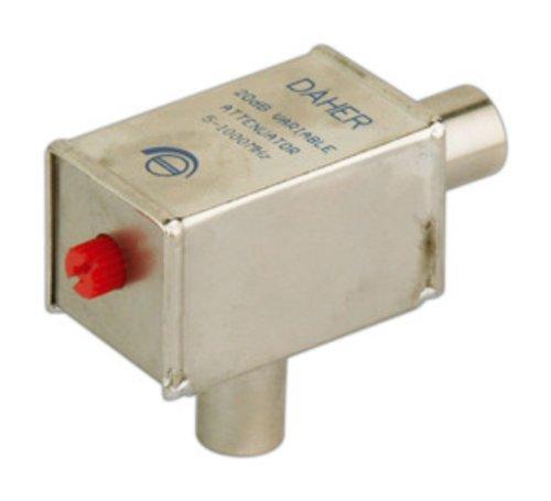 Einstellbarem Dimmer metallisch geschirmt VHF/UHF Männlich Weiblich 0~ 20dB 9,52mm Ø